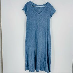 Nina Kendosa Paris Lagenlook Blue Wash Midi Dress